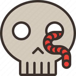 dead, halloween, horror, party, sceleton, scull, trick or treat icon