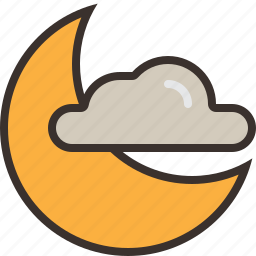 cloud, halloween, horror, moon, night, party, trick or treat icon