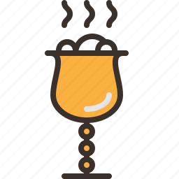 chalice, goblet, halloween, horror, party, poison, trick or treat icon