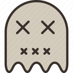 ghost, halloween, horror, pacman, party, spirit, trick or treat icon