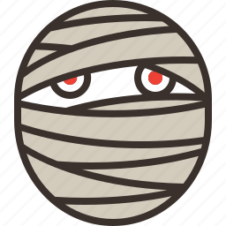 halloween, horror, mummy, party, trick or treat, undead, zombie icon