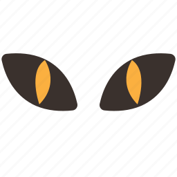 cat, eyes, halloween, horror, party, sight, trick or treat icon