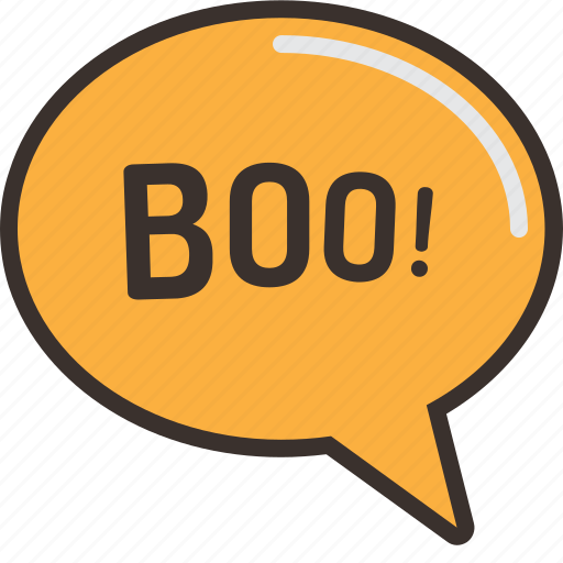 boo, halloween, horror, party, sign, speech, trick or treat icon