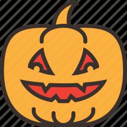 decoration, halloween, horror, jack o lantern, party, pumpkin, trick or treat icon