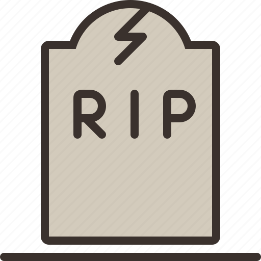 cemetery, halloween, horror, party, rip, tombstone, trick or treat icon