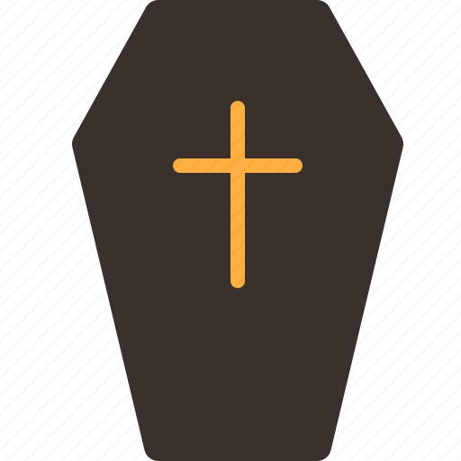 coffin, dead, funeral, halloween, horror, party, trick or treat icon