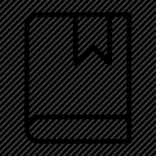 book, bookmark, mark, save icon