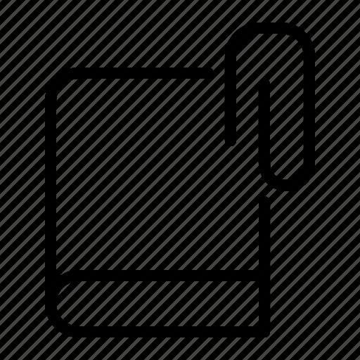 attach, book, clip, insert icon