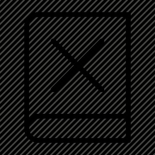 book, cancel, close, ebook icon