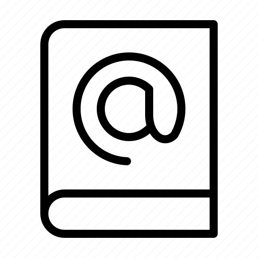 book, email, mail, text icon