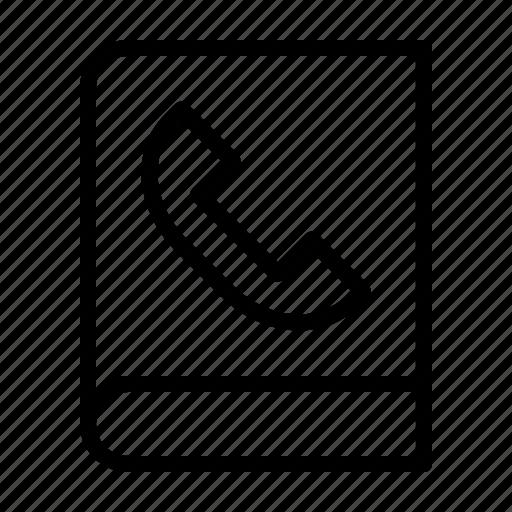 book, call, contact, phone icon