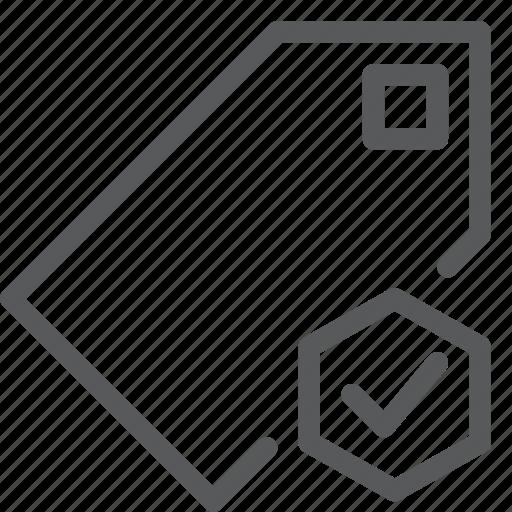 approve, bookmark, check, label, mark, preference, save, tag icon