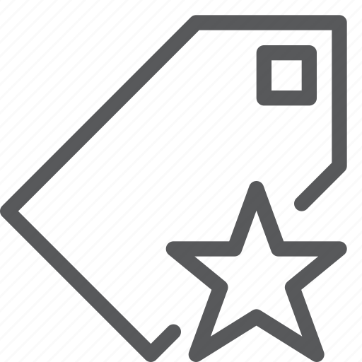 bookmark, favorite, label, mark, preference, save, star, tag icon