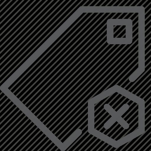 bookmark, delete, label, mark, preference, remove, save, tag icon