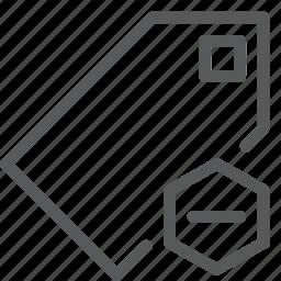 bookmark, delete, label, mark, preference, save, subtract, tag icon