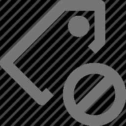 block, stop, tag icon