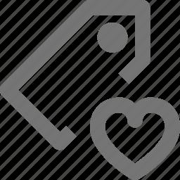 favorite, heart, llike, tag icon