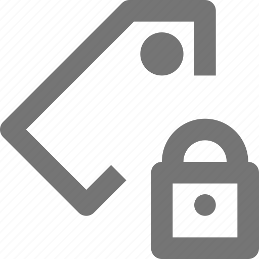 bookmark, label, lock, price, protect, safe, security, tag icon