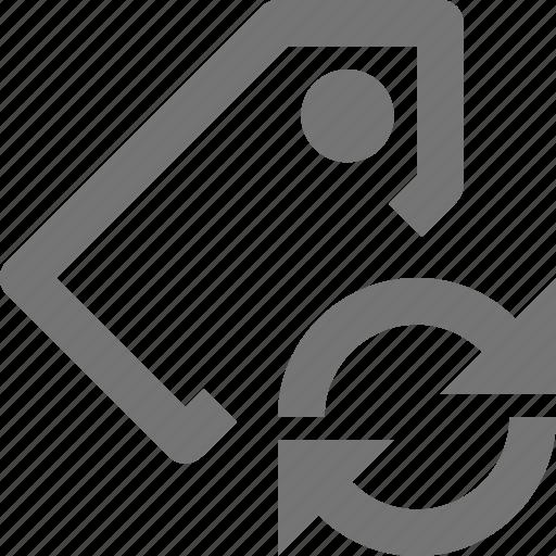 arrows, refresh, reload, sync, tag icon