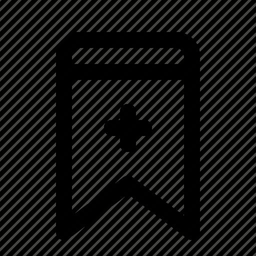 add, badge, bookmark, interface, ui icon