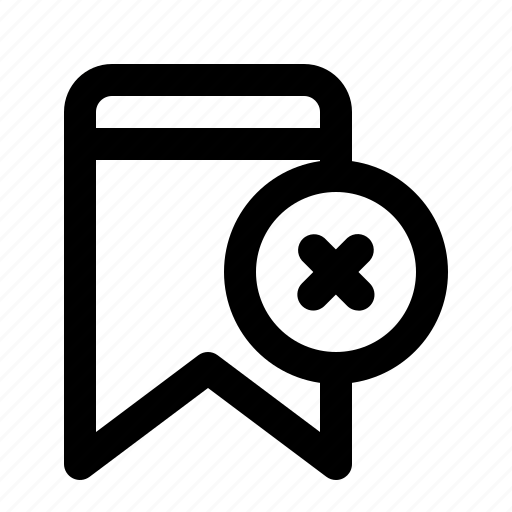 Badge, bookmark, cancel, decline, interface icon - Download on Iconfinder