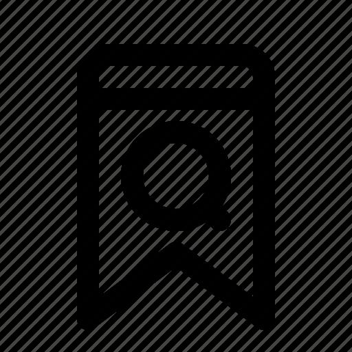badge, bookmark, interface, search, ui icon