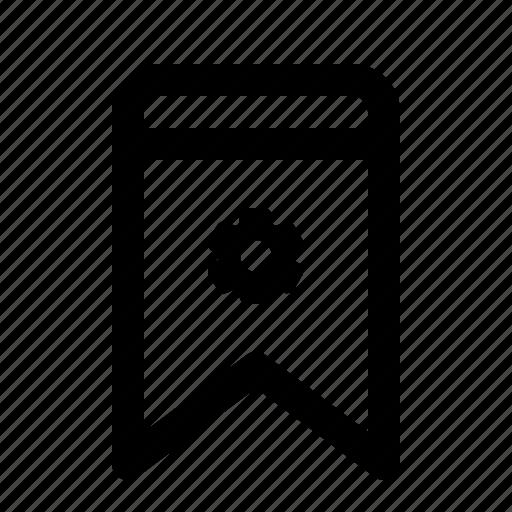 badge, bookmark, interface, settings, ui icon