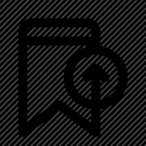 badge, bookmark, interface, ui, upload icon