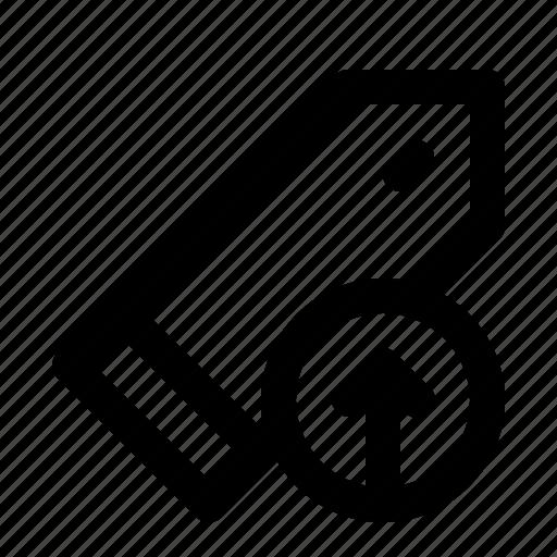 Badge, bookmark, interface, ui, upload icon - Download on Iconfinder