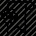 bookmark, configuration, ribbon, setting, tag icon