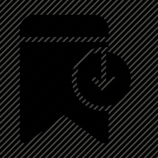 badge, bookmark, download, interface, ui icon