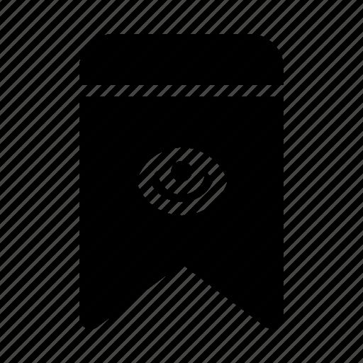 badge, bookmark, hide, interface, ui icon
