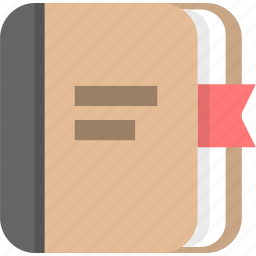 book, bookmark, education, knowledge, learning, manual icon