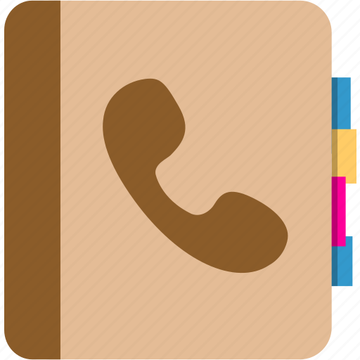 book, contact, telephone number icon