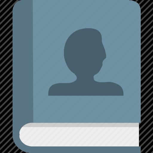 address, books, contact icon