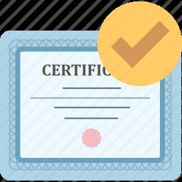achievement, certificate, certification, certify, graduation, prove icon
