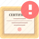 achievement, certificate, certify, prove icon