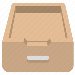 archives, documents, drawer, office icon