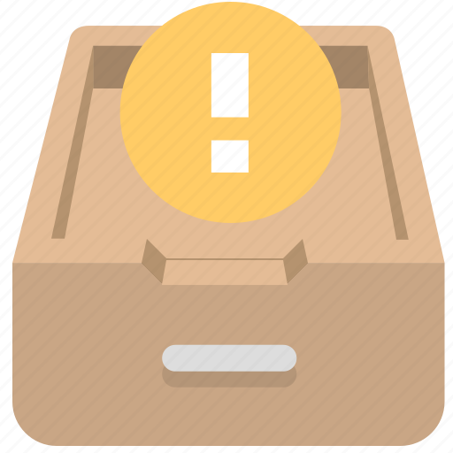 archives, documents, drawer, extension, office icon