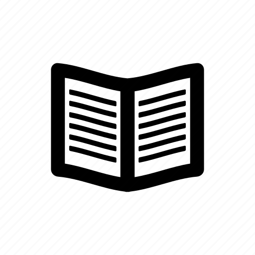 book, opened icon