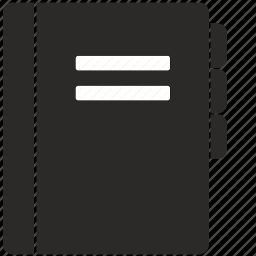 address, api, bible, book, glossary icon