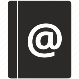 address, book, email, mail, mailbox icon