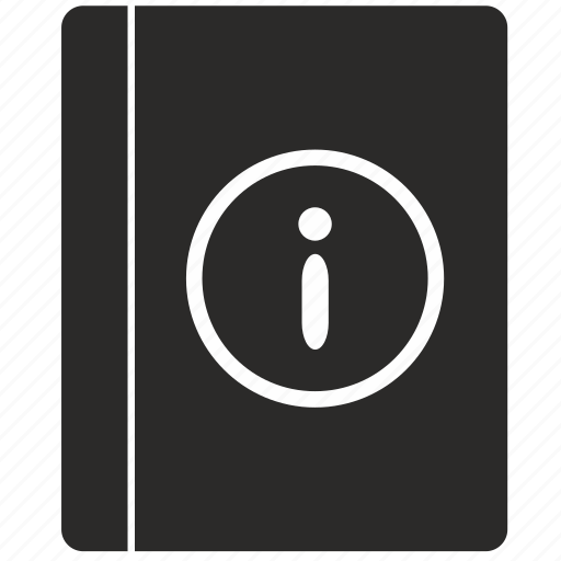 book, info, notice icon