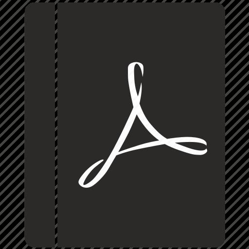 acrobat, adobe, api, bible, book, pdf, text icon