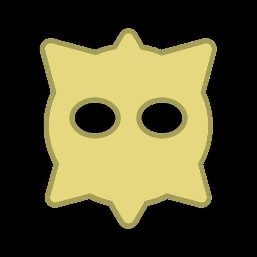 android, bot, eyes, hexagon, round, virus, yellow icon