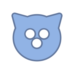 android, blue, bot, cat, mag, round, virus icon