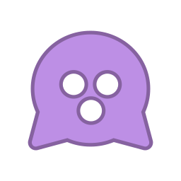 android, bot, curious, mine, purple, round, virus icon