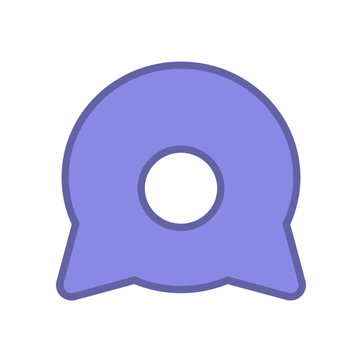 android, bot, eye, points, purple, round, virus icon