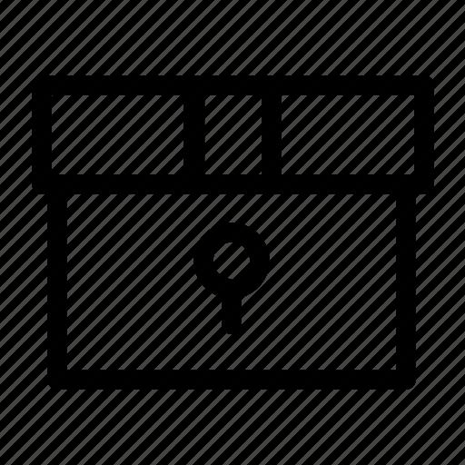 box, boxes, gift, key icon