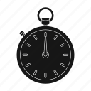 clock, device, equipment, round, sport, stopwatch, time icon